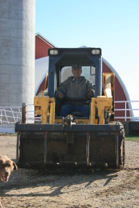 A skid-loader can be a huge accommodation because of the variety of chores it can help with.