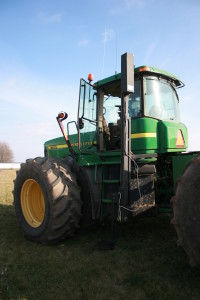 This platform lift is another way to make getting in and out of the tractor safer and easier.