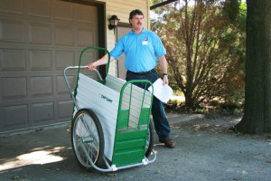 A calf cart like this one is easy to use and can be a big help in moving calves around the farm.